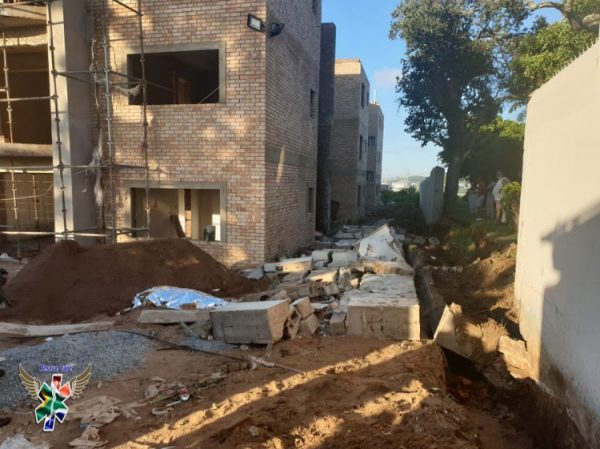 Three killed as wall collapses on construction site in Isipingo