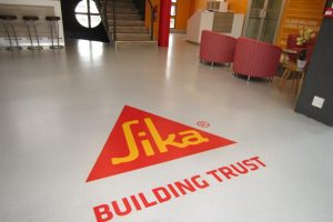 SIKA HEAD OFFICE RECEPTION REVAMPED