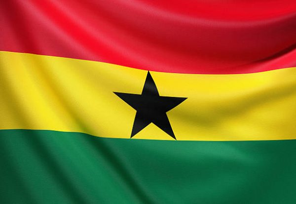 Flag of the Republic of Ghana.
