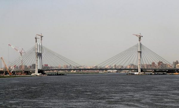 EGYPT'S SISI OPENS HUGE SUSPENSION BRIDGE OVER THE NILE