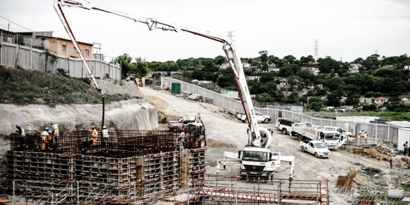 Bosch Projects - Malukazi Pumpstation - wall - first lift - concrete pour
