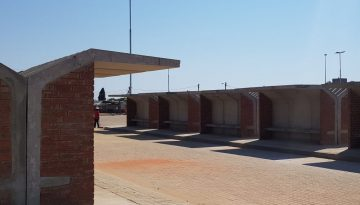 PRECAST BUS SHELTERS AND DZZ PAVERS FOR J B MARX TAXI RANK