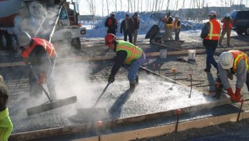 SPECIAL TRAINING FOR CONCRETE WORK IN WINTER