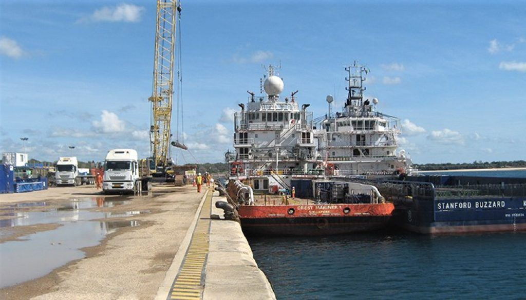 TANZANIAS MTWARA PORT PROJECT NOW 55% COMPLETE