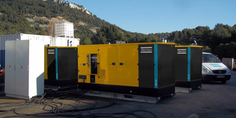 qes 250 mobile diesel generator application