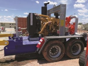 Diesel driven Sykes dewatering pumps are available at trailer mounted units.